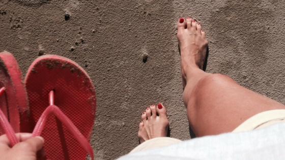 de kracht van het nu, strandwandeling